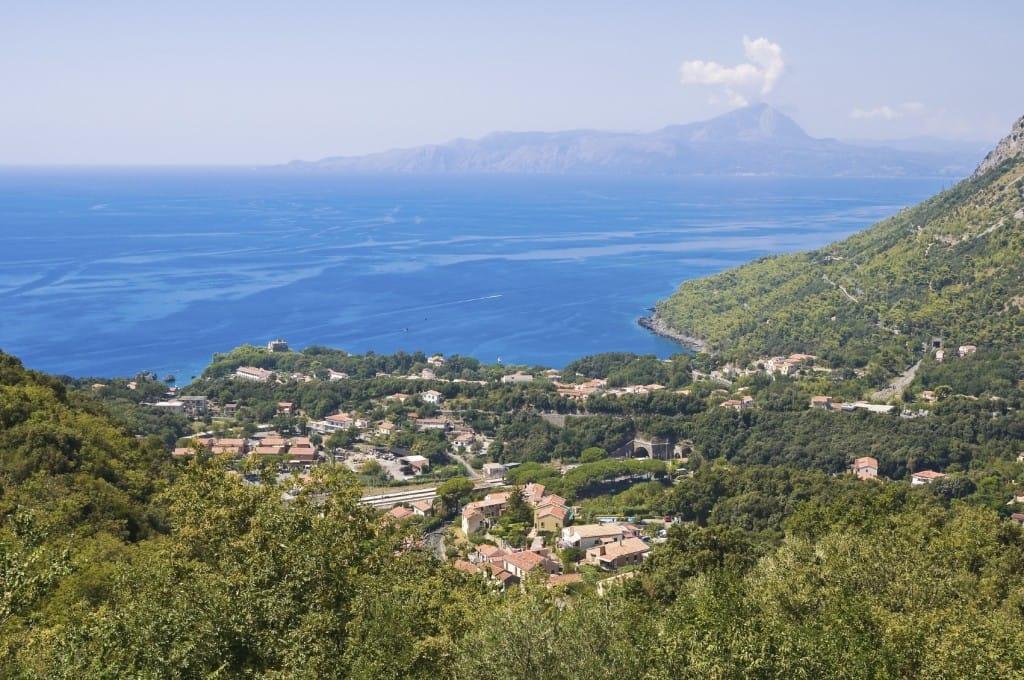 Panoramic view of Maratea. Basilicata. Italy.