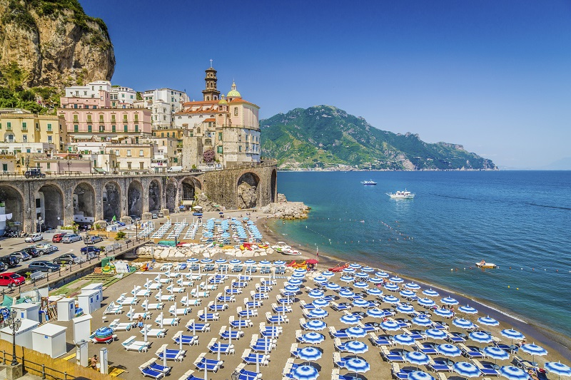 Colorful town of Atrani, Amalfi Clast, Campania, Italy