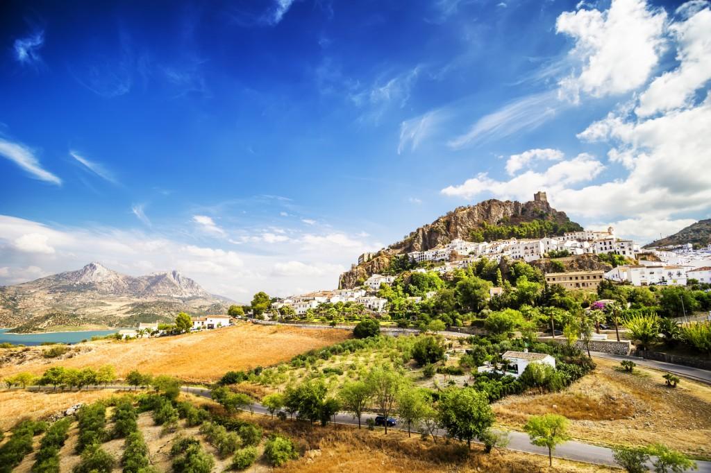 Zahara de la Sierra,town located in Cadiz, Andalusia, Spain