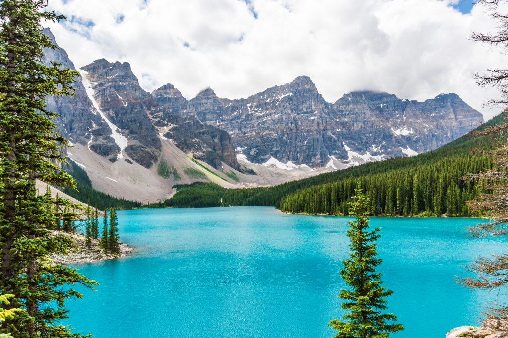 Epic Moraine Lake in Banff National Park, Bristish Columbia